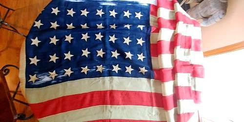 Two rare US flags