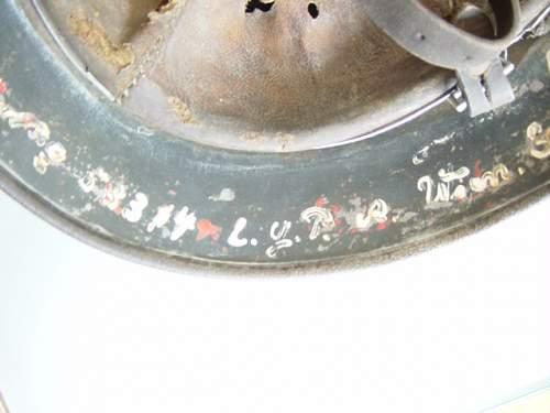 Camo helmet found in a Barn