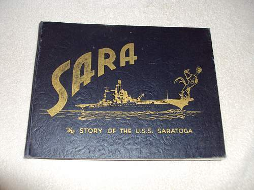 cv3 uss saratoga cruise book