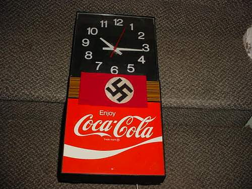 Coke clock & armband antique show find