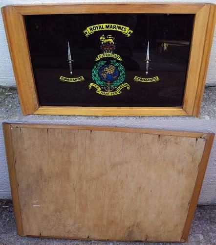 Royal Marines Tea tray
