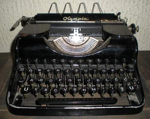 German SS typewriter