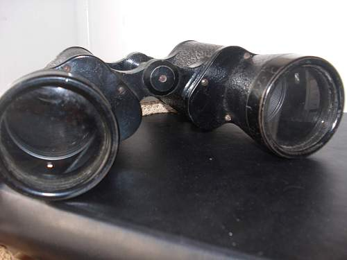 Ww2  carl zeiss jena binoculars - estate find - inscribed to usn commander