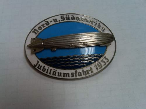 Nord-u.sudamerika zepplin badge