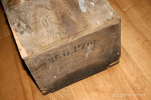 1944 German Large Anti-Tank Rifle Grenades Box, found in my garden shed!