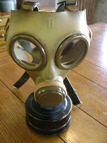 Italian T.35 Gas Mask and a ??? Gas Mask