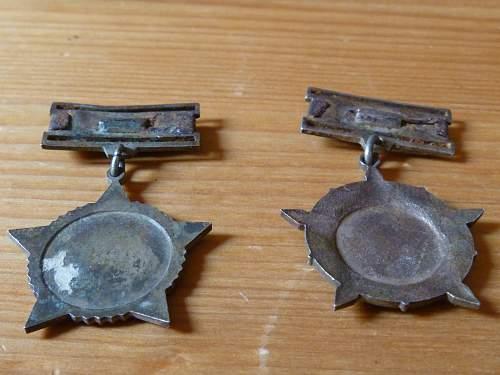 Vietcong badges from Vietnam