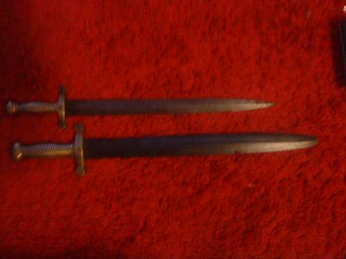 French Artilleryman's swords