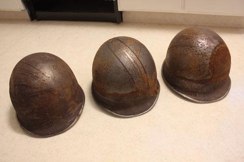 3 M1 fixed bale front seam lids