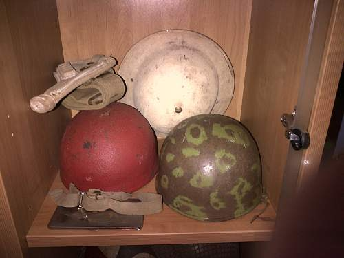 Charity shop finds and grandfather's helmets