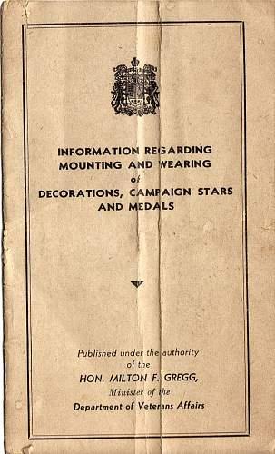 Click image for larger version.  Name:World war 2 medals information booklet front.jpg Views:0 Size:233.8 KB ID:287008