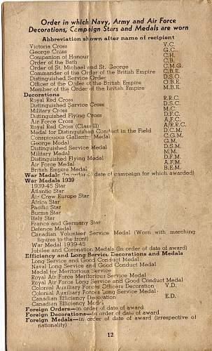 Click image for larger version.  Name:World war 2 medals information booklet Back.jpg Views:1 Size:247.5 KB ID:287009