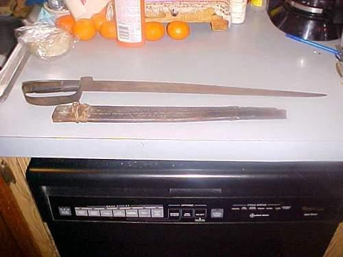 Civil War D-Guard Bowie/Short Sword Austin Carr Basement Find
