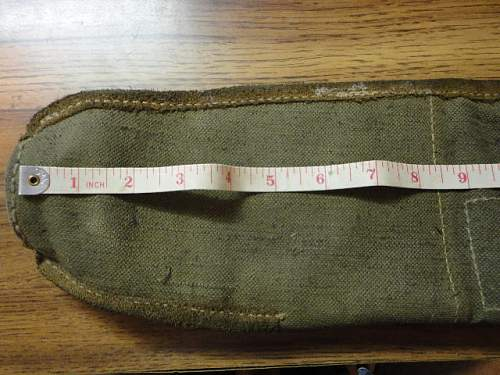 Canvas Carrier for Mine Markers Possibly?