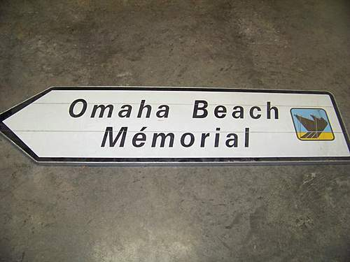 Omaha beach road sign/pointdu hoc