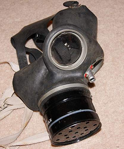 Gasmasks and arm band carboot find - July 2012