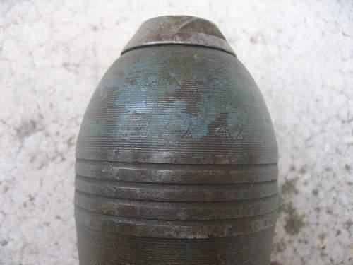 Unknown mortar round