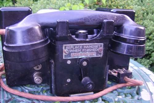 British field telephones