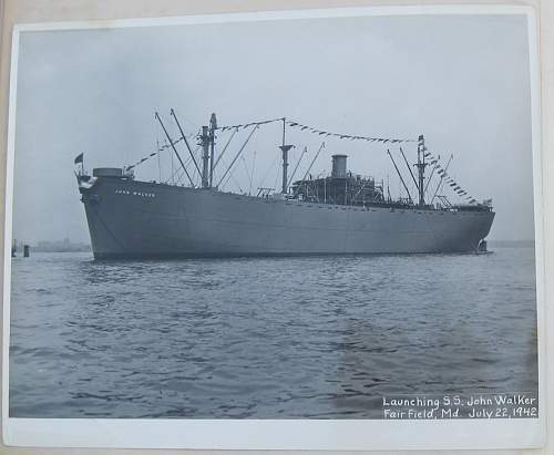 WWII Liberty Ship Launching Set - S.S. John Walker / Launched from Bethlehem Fairfield Shipyard, Inc Baltimore Md