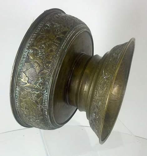 Unique Trench Art Vase Planter