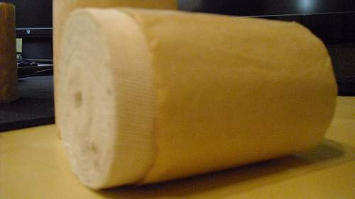 Rolls of bandage found in old storehouse