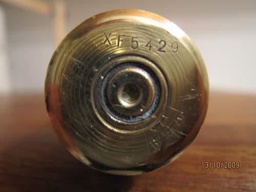 shell case found in a cellar