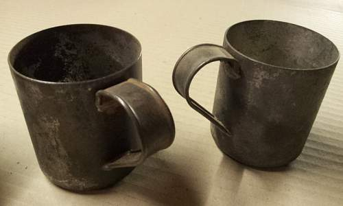 Field made mugs? or trench art or??????