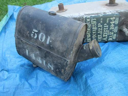 WW11 British Aircraft Oil Tank for Identification