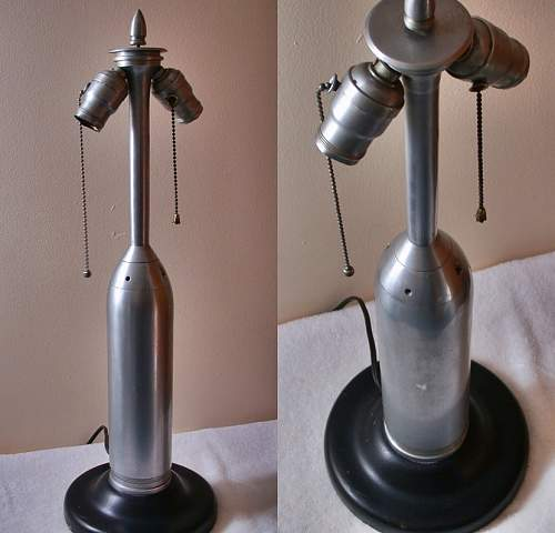 Can anyone validate this  artillary shell - trench art lamp?