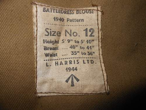 49th West Riding battledress blouse attic find