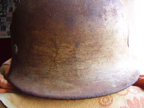 M 35 DD white camo helmet from attic