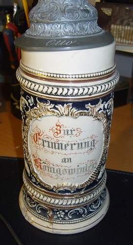 beer stien car boot find (Motto translation)