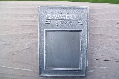 What is this for..Fourth Armored Div plaque named to Zawadzki