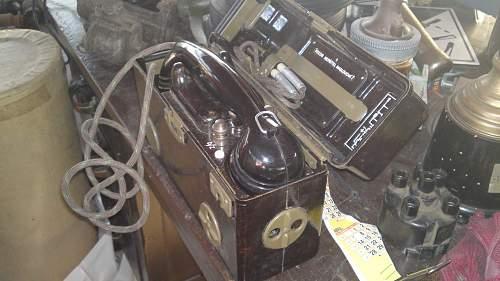 unidentified field telephone