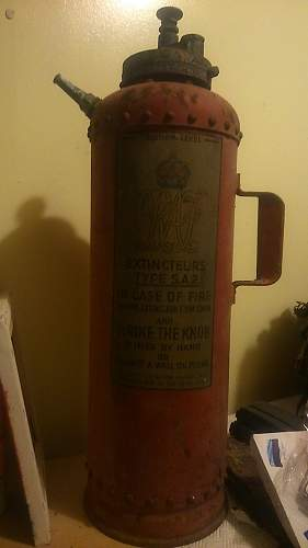 1942 RAF Fire Extinguisher