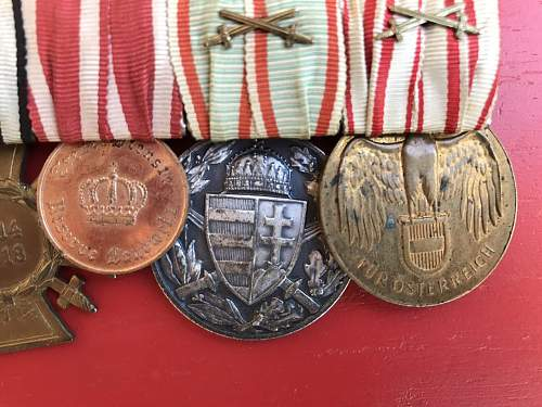 Austro - Hungarian Medal Bar - Opinion needed!