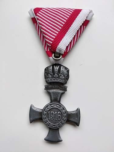 Austro-Hungarian cross, real or fake?