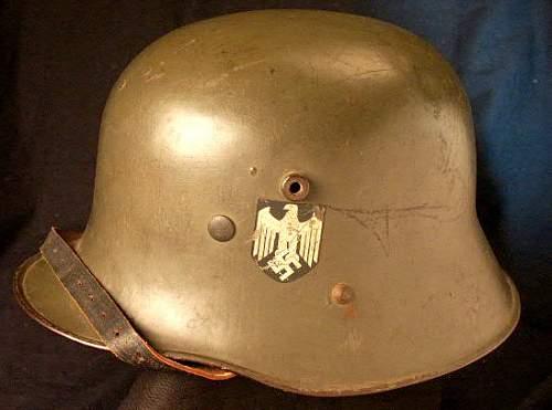Austrian helmet with belt&buckle.