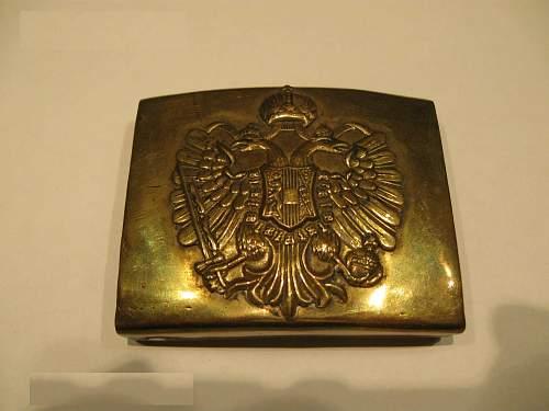 Austro-Hungarian belt buckle