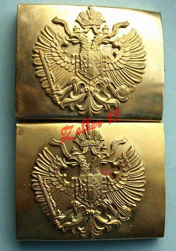 Studying the fake austro-hungarian fake buckes - 2 piece construction