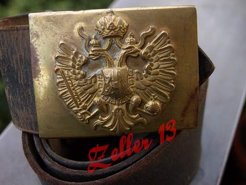 2 piece construction austro-hungarian buckle with belt