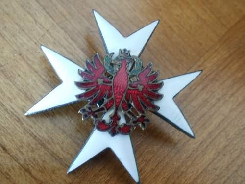 unknown badge ? Austrian?