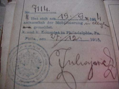 Grandfather's Austro-Hungarian ID Booklet (Militaerpass)