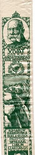 K.K. Landwehrinfanterie Regt. Nr.9. Ephemera