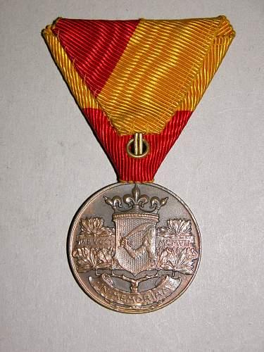Medal for the Annexation of Bosnia-Herzegovina (Bosnisch-Herzegowinische Erinnerungsmedaille), 1908