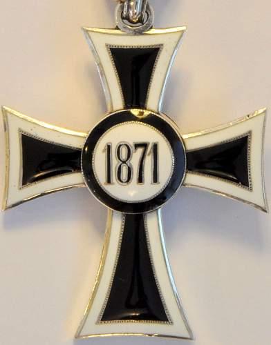 Teutonic Order/Marian Cross - 1871-1918
