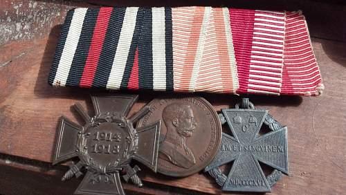 Austrian medal bar