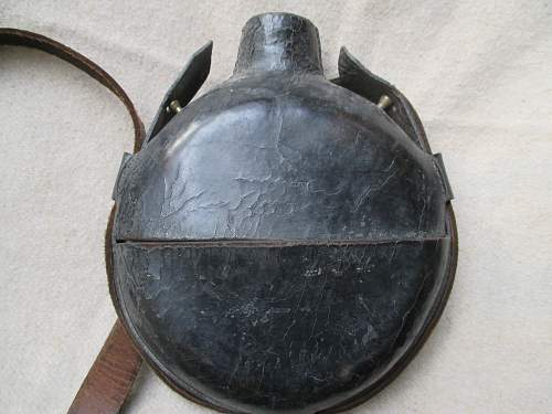 Austro-Hungarian-German Leather Glass Canteen Help Identify