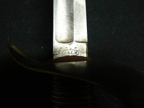 1800's Sword maker's mark to Identify