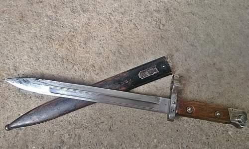 Astro-Hungarian Manlicher bayonet